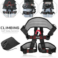Half Body Safety Rock Climbing Caving Fall Protection Rappelling Harness Belt US