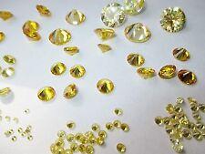 5 CZ gelb, 3,0 mm Ø Cubic Zirkonia Brillantschliff synthetischer Edelstein.