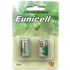 2 x CR2 Batteries Lithium 3v Camera Photo DLCR2 ELCR2 KCR2 Eunicell Battery UK