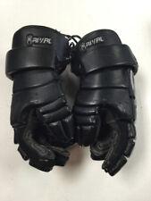"""STX RIVAL Black/Silver Size 13"""" Used Lacrosse Gloves"""