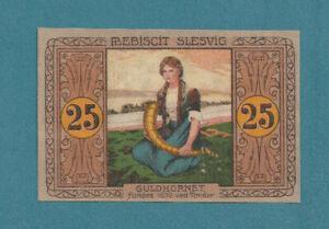 DENMARK/GERMANY -TØNDER/TONDERN PLEBISCITE Banknote 25 Pfg. Note a/UNC – LOOK!