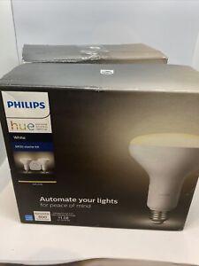 Philips Hue White BR30 Smart Light Bulb Starter Kit - 4 Bulbs + Smart Hub
