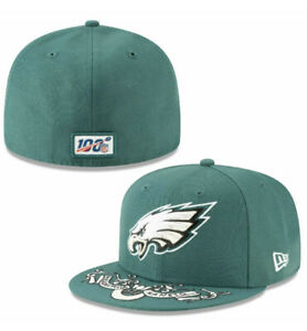 Philadelphia Eagles New Era Low Profile 59FIFTY Fitted Hat NFL 7 1/4 FREE SHIP