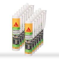 12 x Sikacryl Professional weiß 300ml - Acryl Dichtstoff Fugendichter Maleracryl