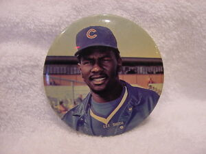 VINTAGE 1984 Lee Smith 3 Inch MLB Photo Button, Chicago Cubs, VERY NICE!!