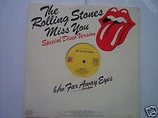 ROLLING STONES Miss You,Special Disco Version,& Far Away Eyes 33RPM Vinyl Record