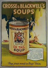Crosse & Blackwell Ox Tail Soup 1929 Page Ad Advertisement 6844