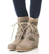 NEW SOREL Joan Of Arctic Wedge Mid Women's 10 Oxford Tan Leather Waterproof Boot