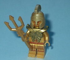 ATLANTIS Lego Temple Statue Poseidon Gold w/Trident NEW Genuine Lego 7985