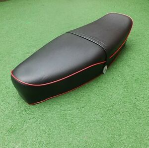 VESPA SEAT SPRINT PE PX LML 2T T5 Classic GL VBB GS SPRINT Black with RED Piping