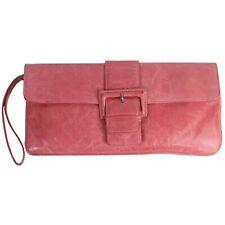 399e42ad38b5e3 Hobo International AUDREY Leather Wristlet Wallet Organizer Rose Pink Vtg  Style