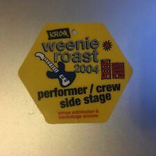Weenie Roast - 2004 - Performer/Crew Side Stage - Yellow
