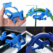 Cute Blue Aquarium Filtration Water Pipe Filter Hose Holder Tube Tank Mount