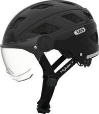 Abus City Urban Fahrradhelm Hyban clear visor black 58-63 cm