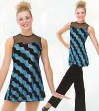 Electric Avenue Dance Costume 6x7 Sequin Tunic Dress and Medium Pants New