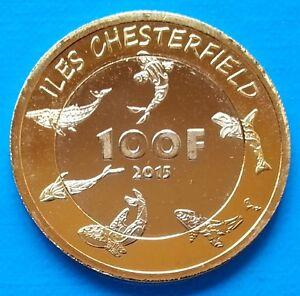 Chesterfield - New Caledonia 100 francs 2015 UNC Whale Bimetallic unusual coin