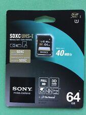 Sony 64GB 40MB/s SDXC UHS-I Card SF64UY/T1