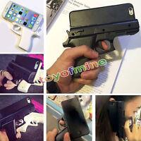 3D Toy Guns Grip Forma cubierta dura de la piel para el iPhone 5 5s SE 6 6 Plus
