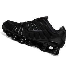 NIKE MENS Shoes Shox TL - Black, Hematite & Max Orange - AV3595-002