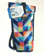 PackIt Freezable Wine Cooler Bag Paradise Breeze Picnic Tailgating Camping Work