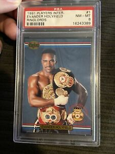 1991 Boxing Players INTL Ringlords 1 Evander Holyfield Psa 8 Rookie Card Low pop