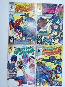 Marvel Comics Deadly Foes of Spider-Man #1-4 1990 1 2 3 4 Full Set Run VF/NM