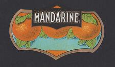 ANCIENNE ETIQUETTE PUBLICITAIRE BOUTEILLE/MANDARINE(LIQUEUR)Im.Nolasque Bordeaux