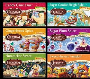 Celestial Seasonings Holiday Teas, 20 bags boxed, NEW, Your Choice