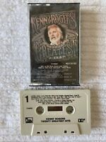 KENNY ROGERS TWENTY GREATEST HITS CASSETTE TAPE (TESTED, WORKS AMAZING!) ~ D20