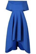 Vestiti da donna orlo asimmetrico blu