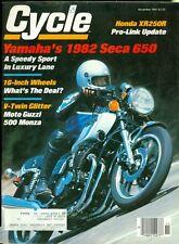 1981 Cycle Magazine: Yamaha's 1982 Seca 650/Honda XR250R/Moto Guzzi 500 Monza