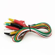 10pcs Double-ended Crocodile Clips Cable Alligator Clips Wire testing wire 50cm