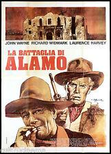 LA BATTAGLIA DI ALAMO MANIFESTO CINEMA FILM JOHN WAYNE THE ALAMO MOVIE POSTER 4F