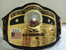 NWA DOM GLOBE WORLDS HEAVYWEIGHT WRESTLING CHAMPION BELT 4MM IN ZINC