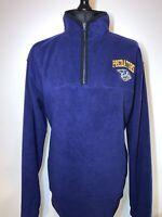 Official NHL Nashville Predators Purple Blue Fleece 1/4 Zip Top VGC XL