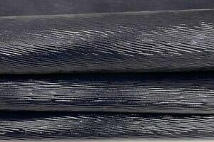 VERY DARK BLUE EPI LV shiny strong Goatskin leather 2 skins 8sqf 0.9mm #A7427