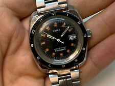 Timex Vintage Diver Mens Watch Manual Wind