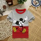 Baby Boy Girls Unisex Children Kid Mickey Mouse Tees Summer T-shirt Clothes Tops