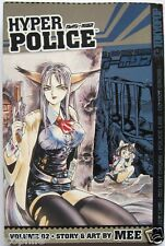 Hyper Police Vol. 2 by MEE, PaperBack English Manga Book, VG Condition