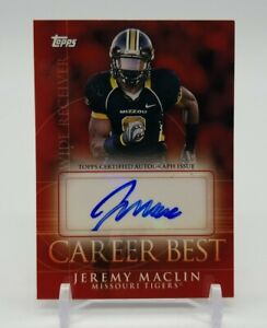2009 Topps Career Best JEREMY MACLIN Certified Autograph Issue Missouri Tigers