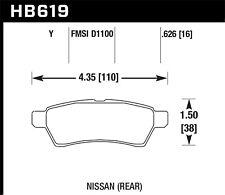 Disc Brake Pad Set-LE Rear Hawk Perf HB619Y.626