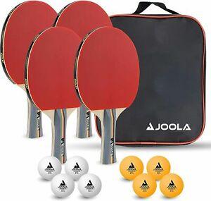 JOOLA Tischtennisschläger Set TEAM SCHOOL   4 Tischtennisschläger 8 TT-Bälle