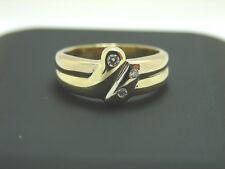 Damen Brillant Ring 585 Bicolor 14 Karat Goldring Größe 53  Diamantring