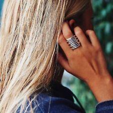 NEW Authentic UNO de 50 Women vintage Silver Statement Tornado Big Ring