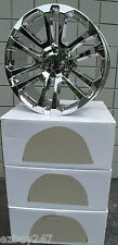 "22"" NEW GMC YUKON SIERRA CHEVROLET ESCALADE FACTORY STYLE CHROME WHEELS RIMS"
