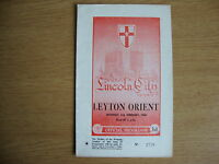 1959/60 Lincoln City v Leyton Orient - League Division 2 - Excellent Condition