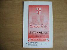 1959/60 Lincoln City v Leyton Orient - League Division 2 - Excellent Condition