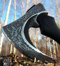 Axe Zombie Apocalypse. Handmade axe. Survival in the wild Living corpse. Demon.