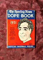 RARE The Sporting News BASEBALL Major League DOPE BOOK 1951 Phil Rizzuto