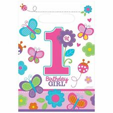 Sweet 1st Birthday Girl Loot Bags Pink 8 Pack New Official Party Product Amscan